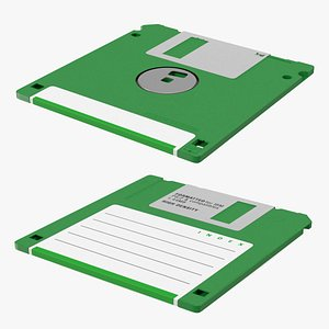 Double Sided Micro Diskette 3D