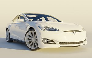 tesla s modeled 3D