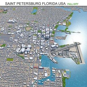3D Saint Petersburg Florida USA