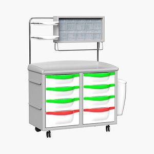 medical cart 3D