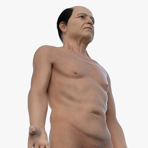 3D old male body