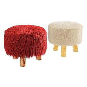 3D pouf fur soft