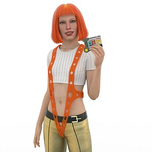 leeloo fifth element - 3D model