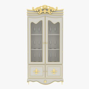 3D Cabinet Small white
