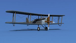 Airco DH-4 Unmarked Trainer 3D model