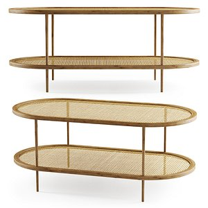 wooden coffee rattan model