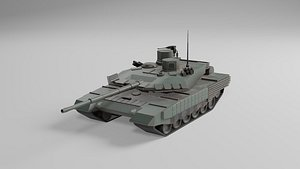 3D T90 low poly model