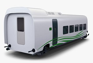 speed railway passenger car 3D model