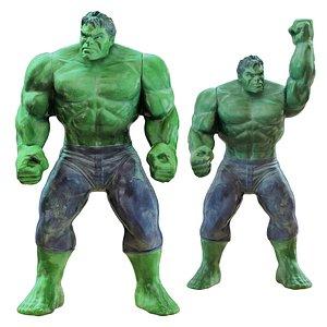 Two Hulk toys 3D model