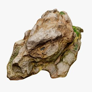 3D model Beach Rock Scan 03