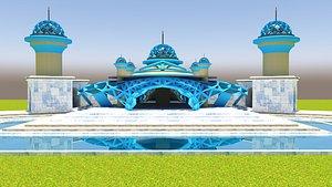 3D architecture mosque building