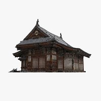 Realistic small palace school in ancient Asia