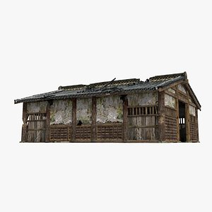 3D An antiquated stable of Asia