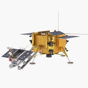 3D chang e-4 lunar