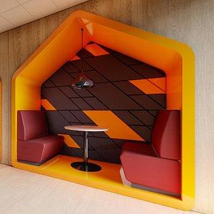 restaurant booth model