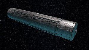 3D spacestation vehicle spaceship