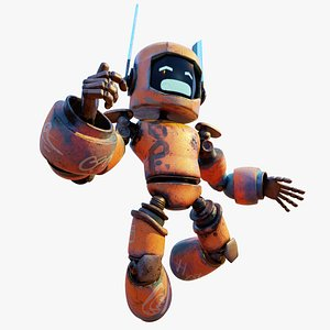 3D Post Apocalyptic Sci-Fi Robot - Game Ready Character model