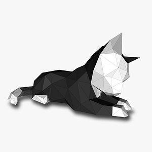 CAT LOW POLY 3D Papercraf 3D model