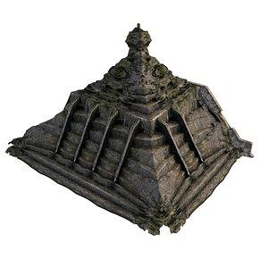 Pyramid Temple Wall 04 07 model