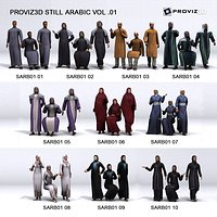 3D People 30 Still 3D Arabic People Vol 01
