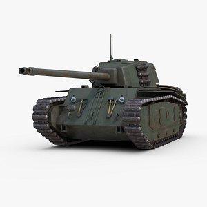 ARL 44 Heavy Tank 3D model