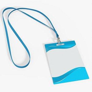 3D card identity id model