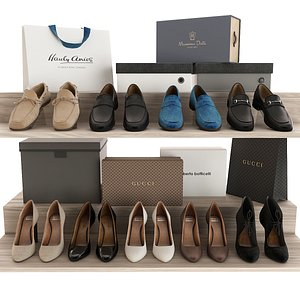 3D model Set of Shoes