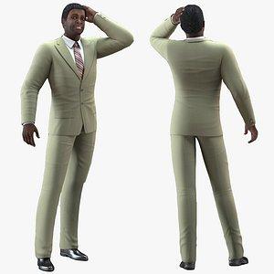 dark skin black man model