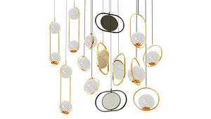 3D lampatron set chandelier
