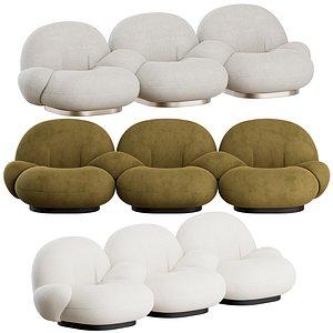 3D gubi pacha sofa