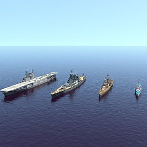 US Navy WW2 collection 3D