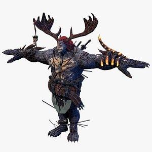 3D native orc warrior