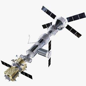 3D Lunar Gateway Space Station model