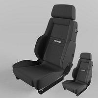 RECARO Expert Comfort Nardo Cloth Black and Grey Seat