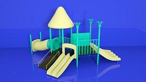 Children playground slides  ladders  candy-colored scenes slides amusement equipment  children playg model