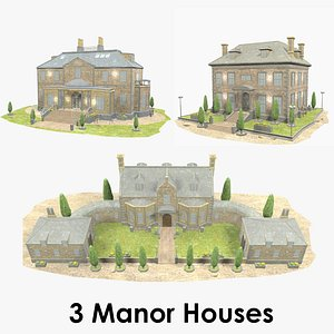 - manor houses 3D model