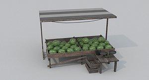 Watermelon Market 3D model