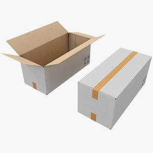 3D Cardboard Box 13 with Pbr 4K 8K