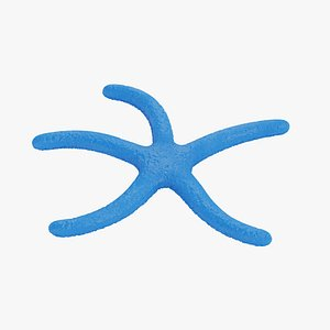 blue rigged starfish model