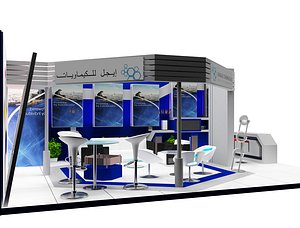 3D Booth Exhibition Stand a453