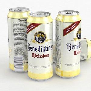 Beer Can Benediktiner Weissbier 500ml 2021 model