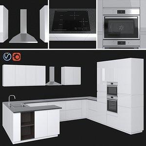 3D voxtorp kitchen model