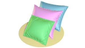 3D model green pillow