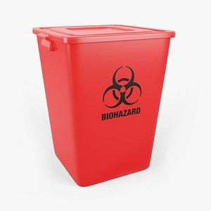 3D waste container biohazard