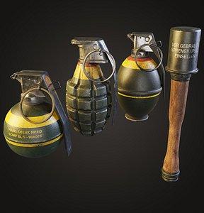 frag grenades 3D model