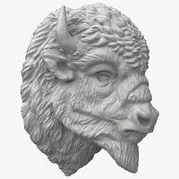 Bison Buffalo Head Sculpture