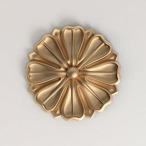decorative rosette cnc model