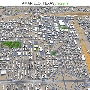 3D model Amarillo Texas USA