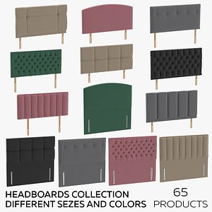 3D Headboards Collection - Different Sizes and Colors