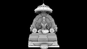 3D god lakshmi model